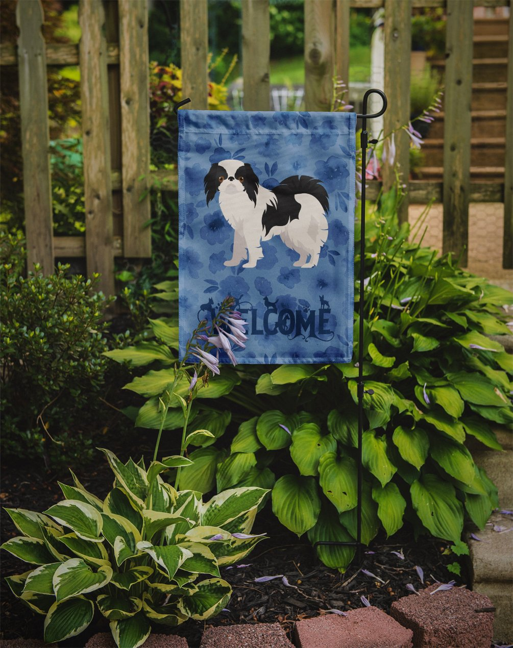 Japanese Chin #2 Welcome Flag Garden Size CK6005GF by Caroline's Treasures