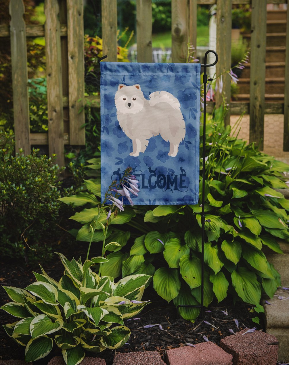 Japanese Spitz Welcome Flag Garden Size CK6006GF by Caroline's Treasures