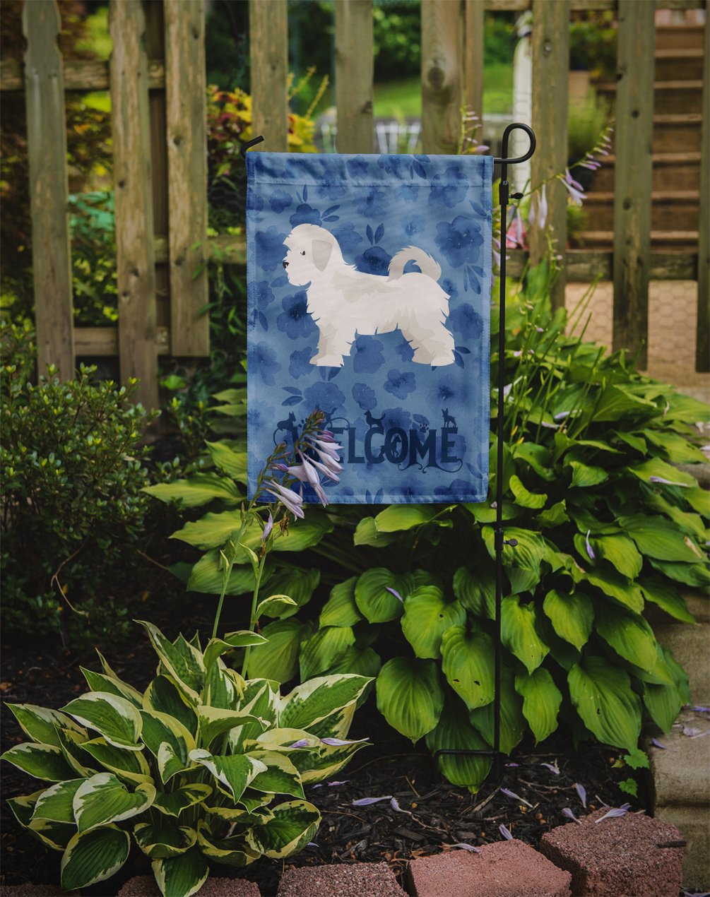 Maltese Puppy Cut Welcome Flag Garden Size CK6016GF by Caroline's Treasures