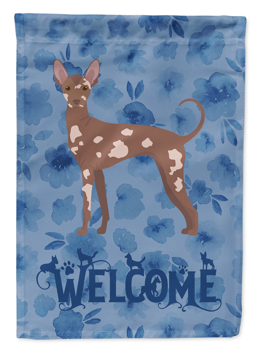 Mexican Hairless Dog #2 Welcome Flag Garden Size CK6021GF by Caroline's Treasures