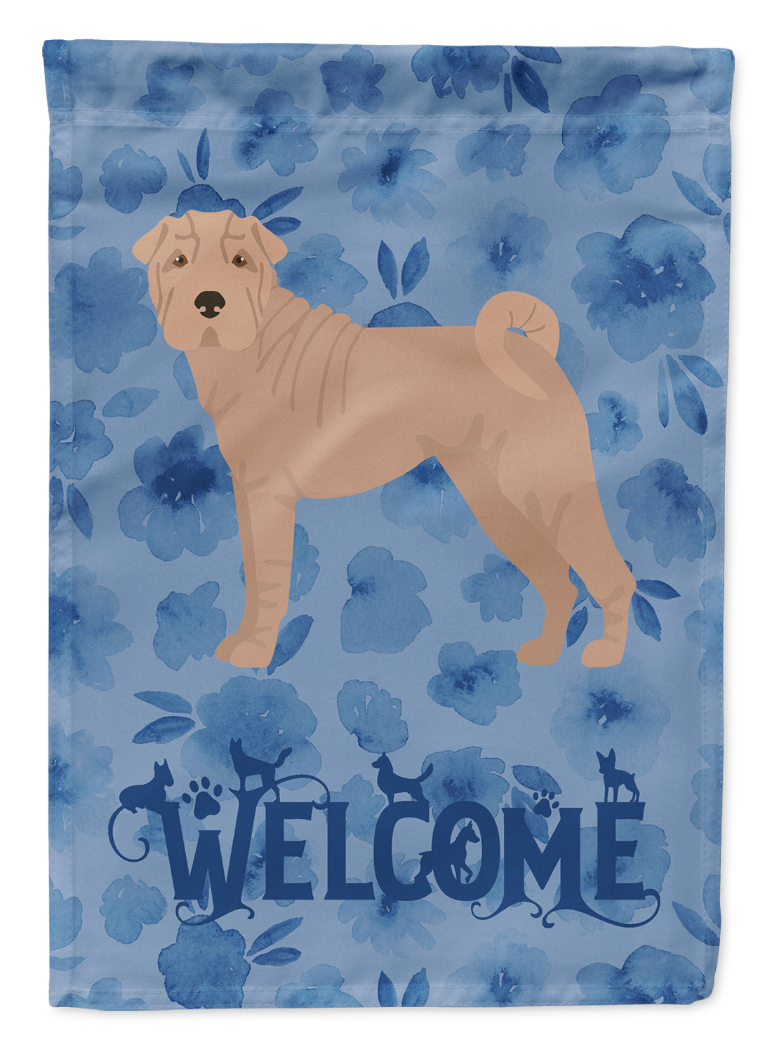 Shar Pei #2 Welcome Flag Canvas House Size CK6050CHF by Caroline's Treasures