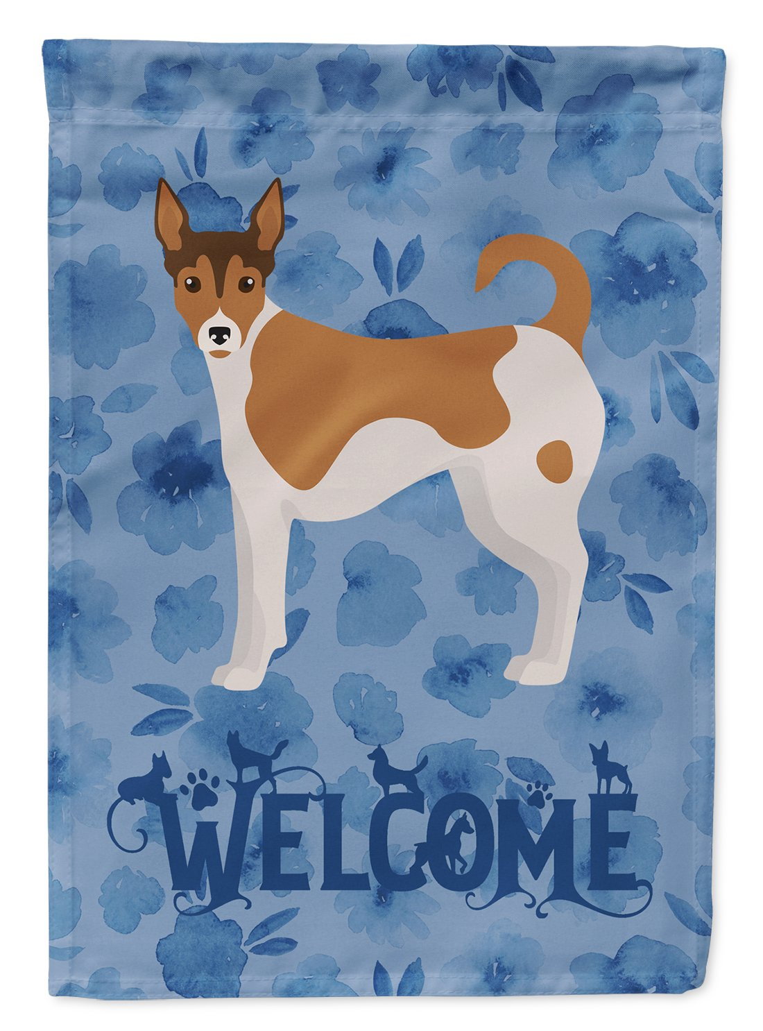 Tenterfield Terrier Welcome Flag Garden Size CK6052GF by Caroline's Treasures