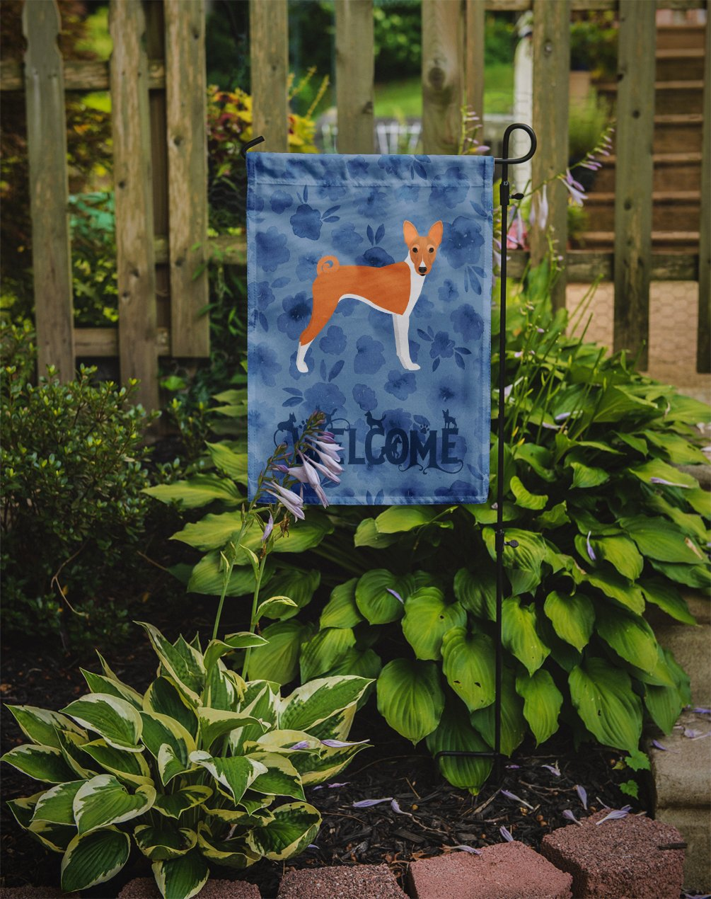 Basenji Welcome Flag Garden Size CK6059GF by Caroline's Treasures