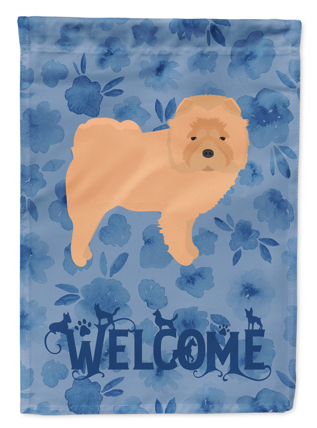 Chow Chow Welcome Flag Canvas House Size CK6073CHF by Caroline's Treasures