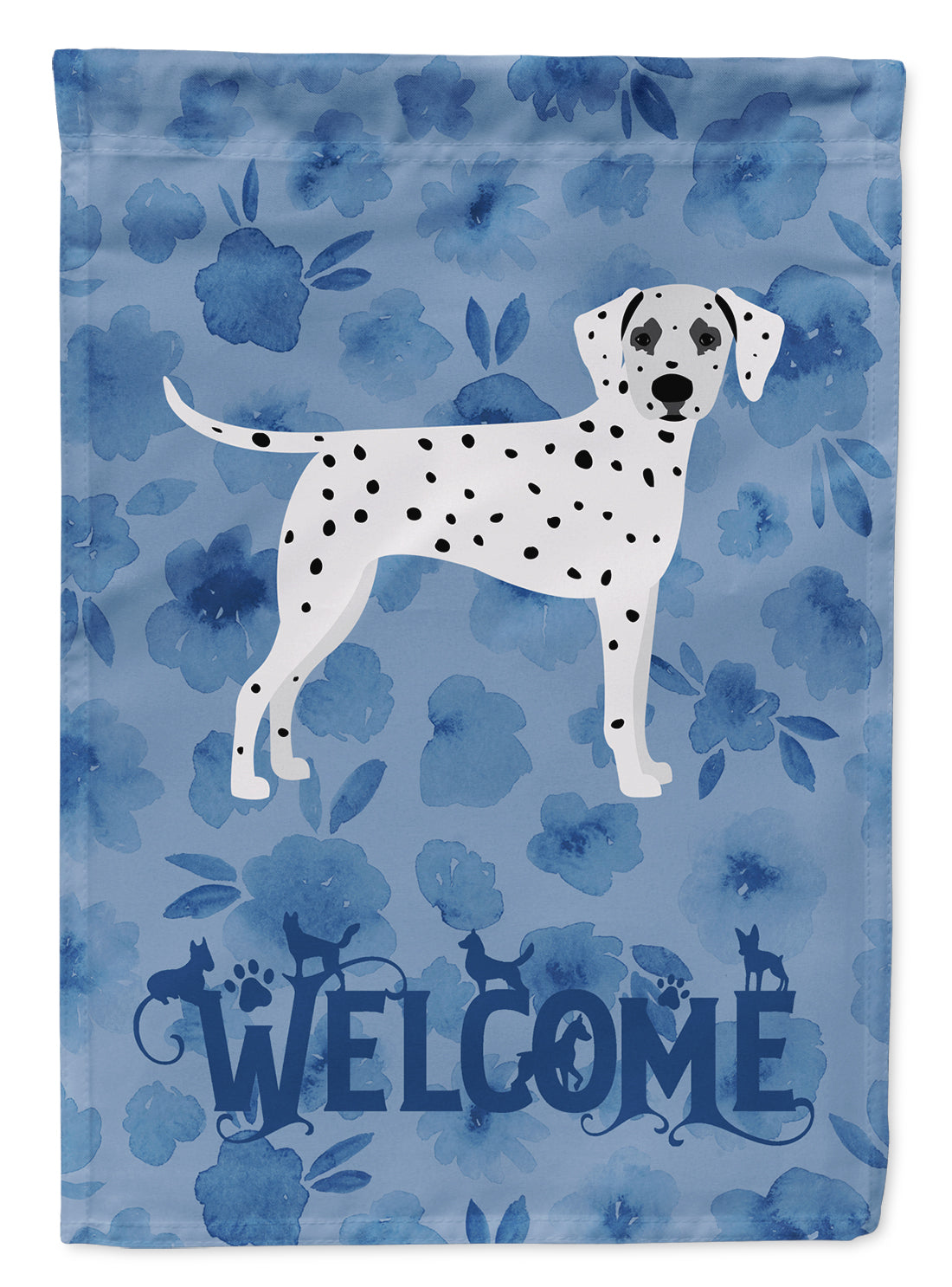 Dalmatian Welcome Flag Canvas House Size CK6074CHF by Caroline's Treasures