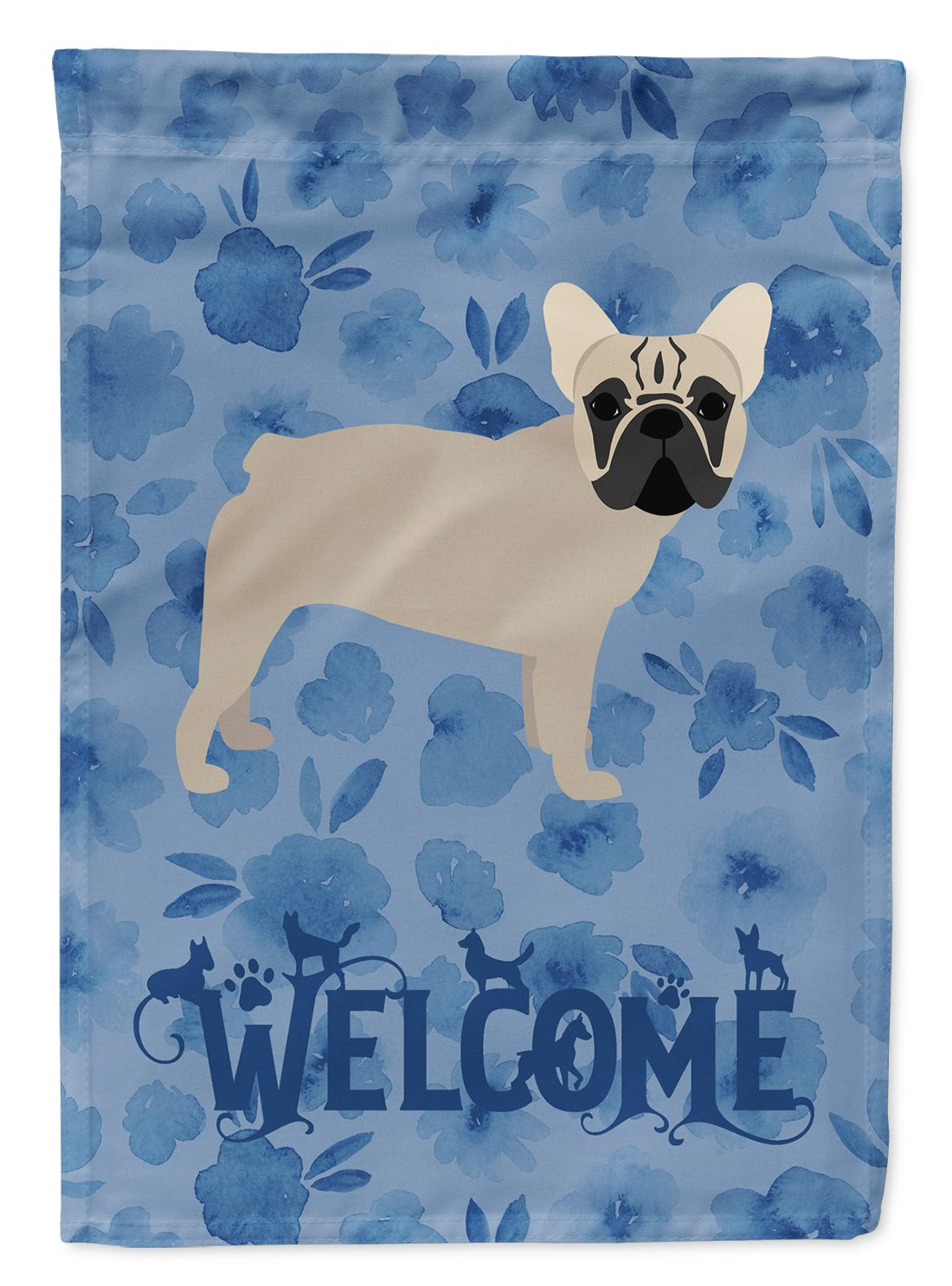 French Bulldog Welcome Flag Garden Size CK6079GF by Caroline's Treasures
