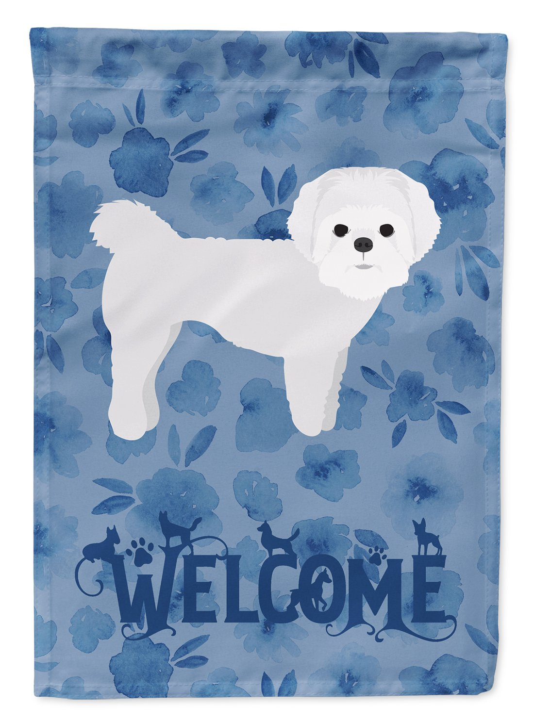 Maltese Welcome Flag Garden Size CK6090GF by Caroline's Treasures