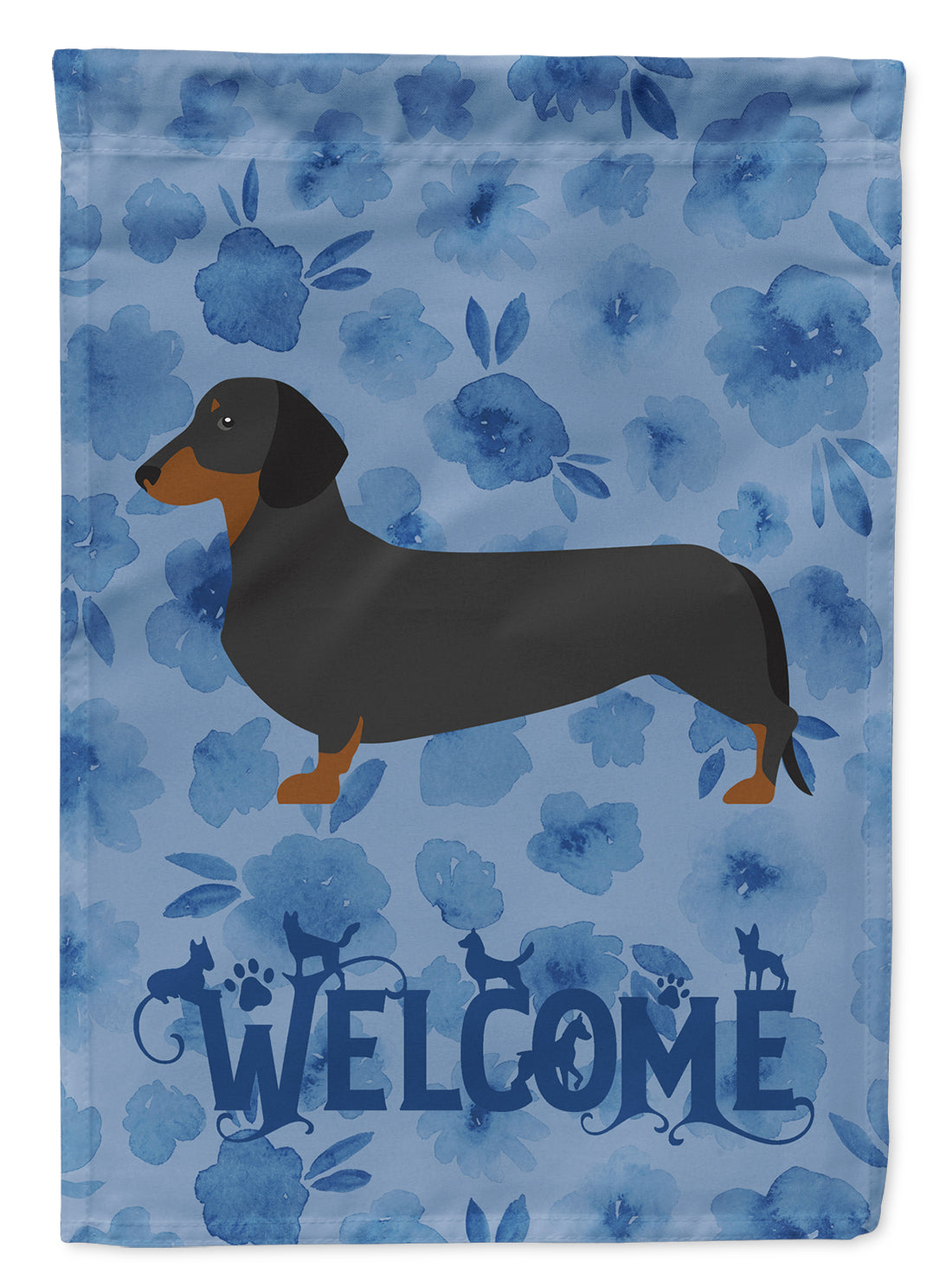 Dachshund Welcome Flag Canvas House Size CK6109CHF by Caroline's Treasures
