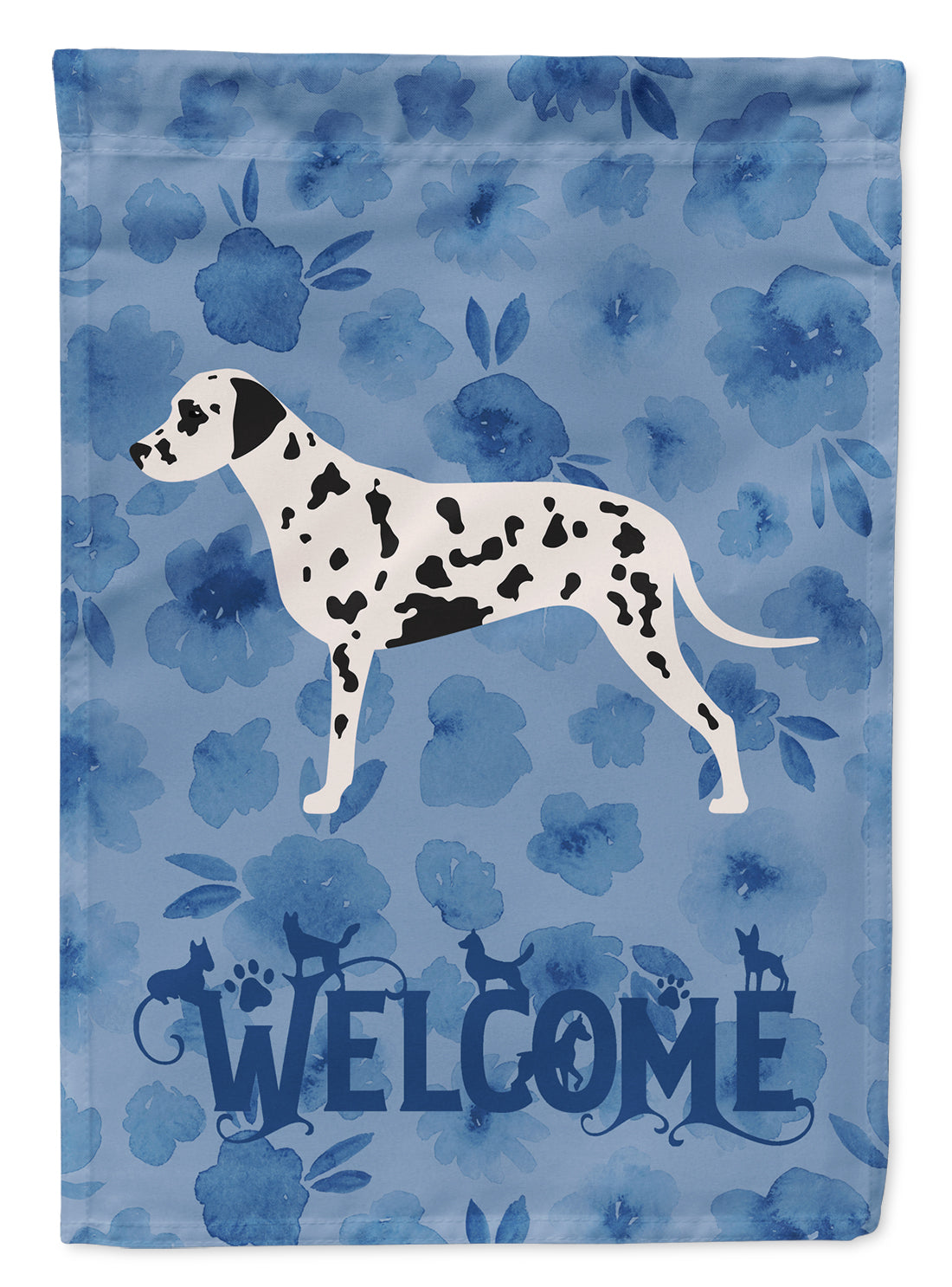 Dalmatian Welcome Flag Canvas House Size CK6110CHF by Caroline's Treasures
