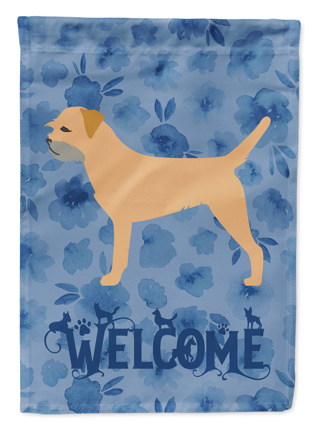 Border Terrier Welcome Flag Canvas House Size CK6116CHF by Caroline's Treasures
