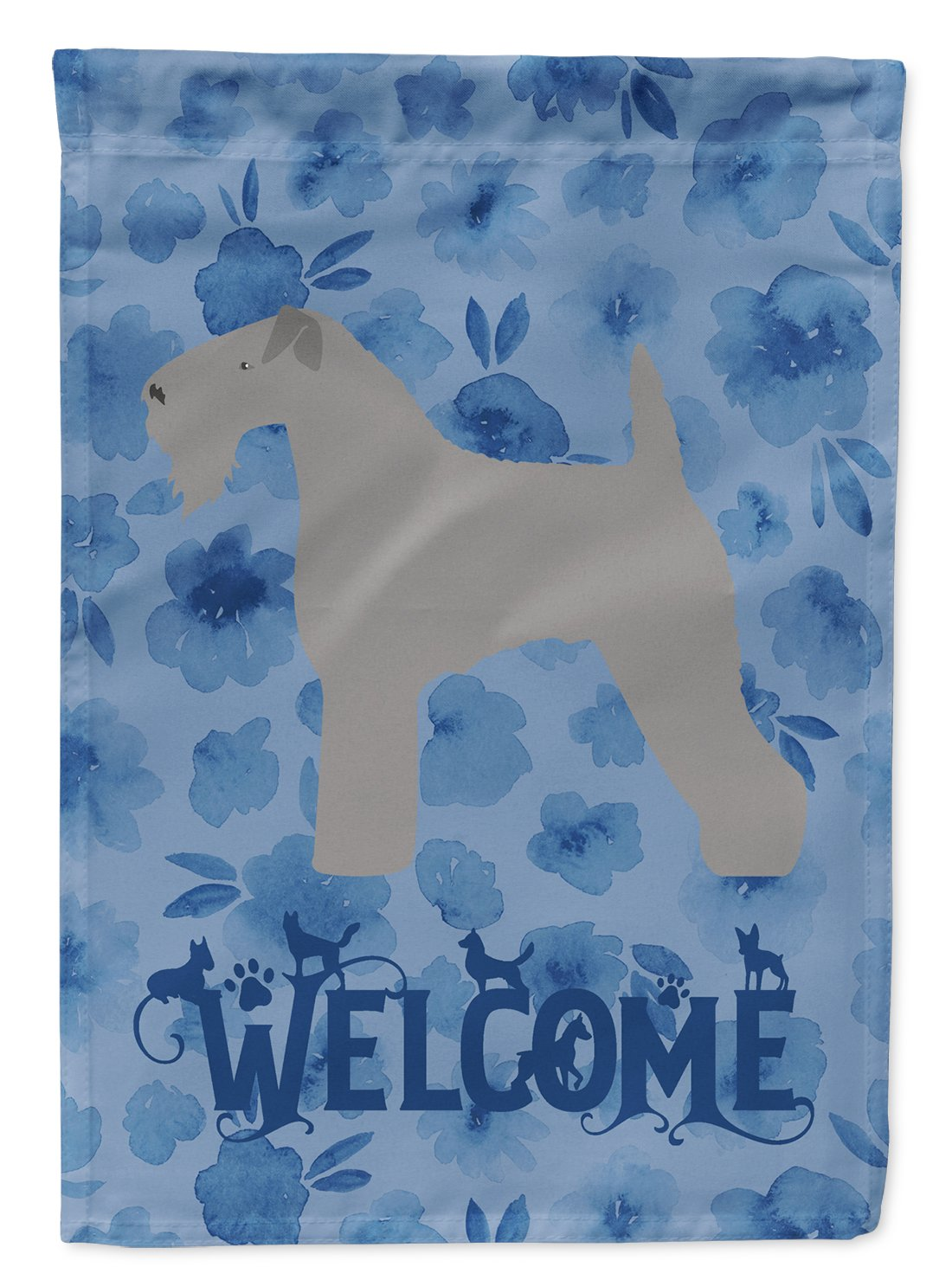 Kerry Blue Terrier Welcome Flag Garden Size CK6119GF by Caroline's Treasures