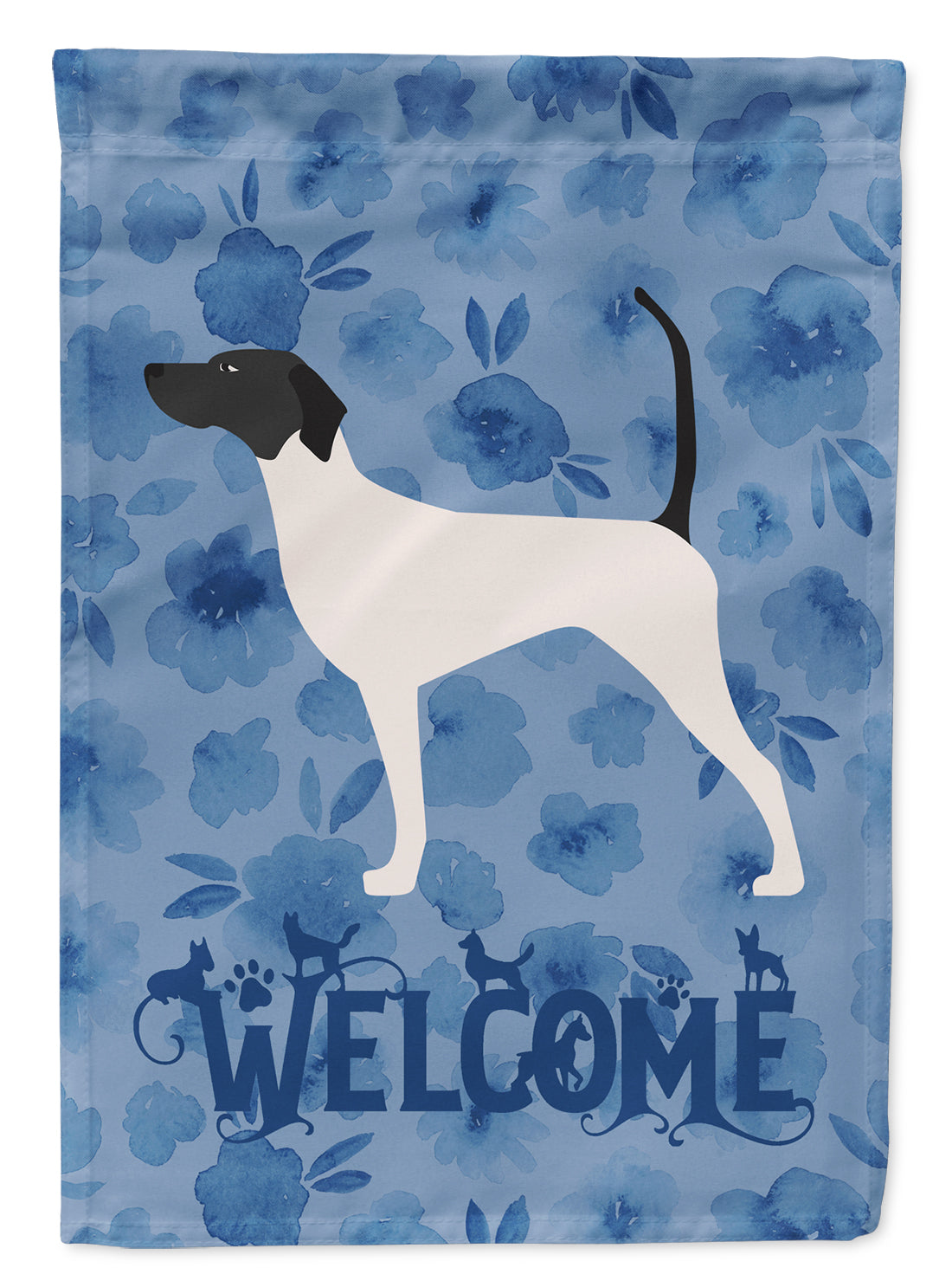 English Pointer Welcome Flag Canvas House Size CK6122CHF by Caroline's Treasures
