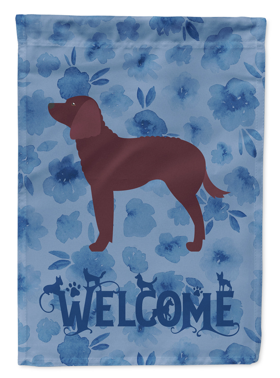 American Water Spaniel Welcome Flag Canvas House Size CK6128CHF by Caroline's Treasures