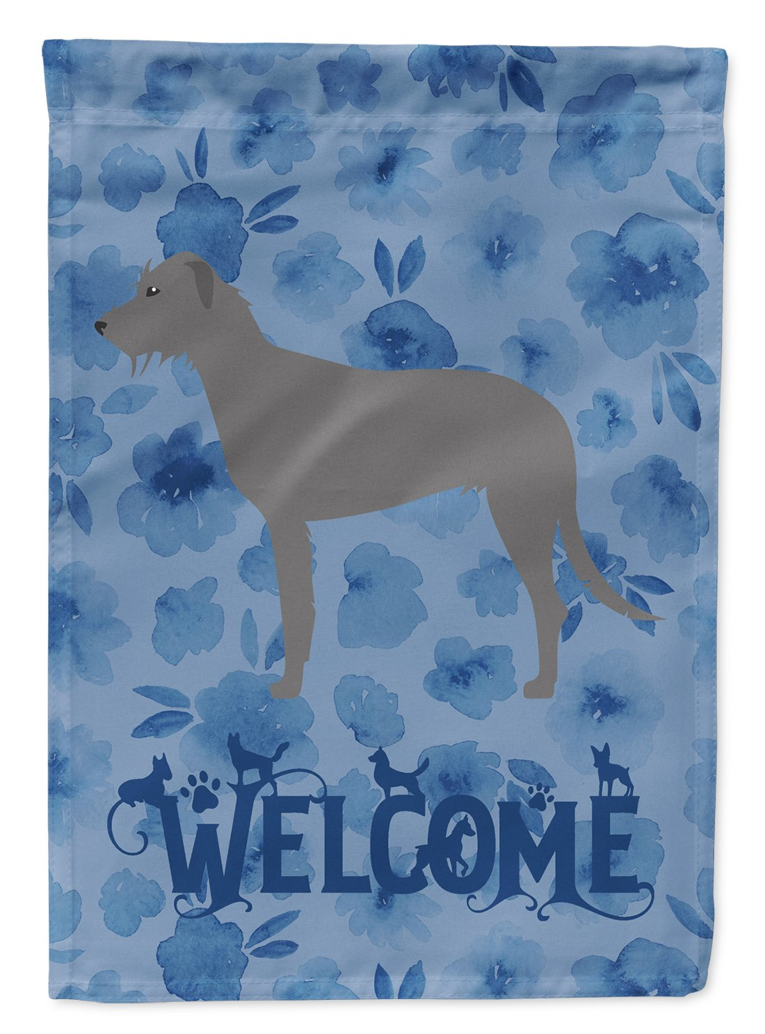 Irish Wolfhound Welcome Flag Garden Size CK6130GF by Caroline's Treasures