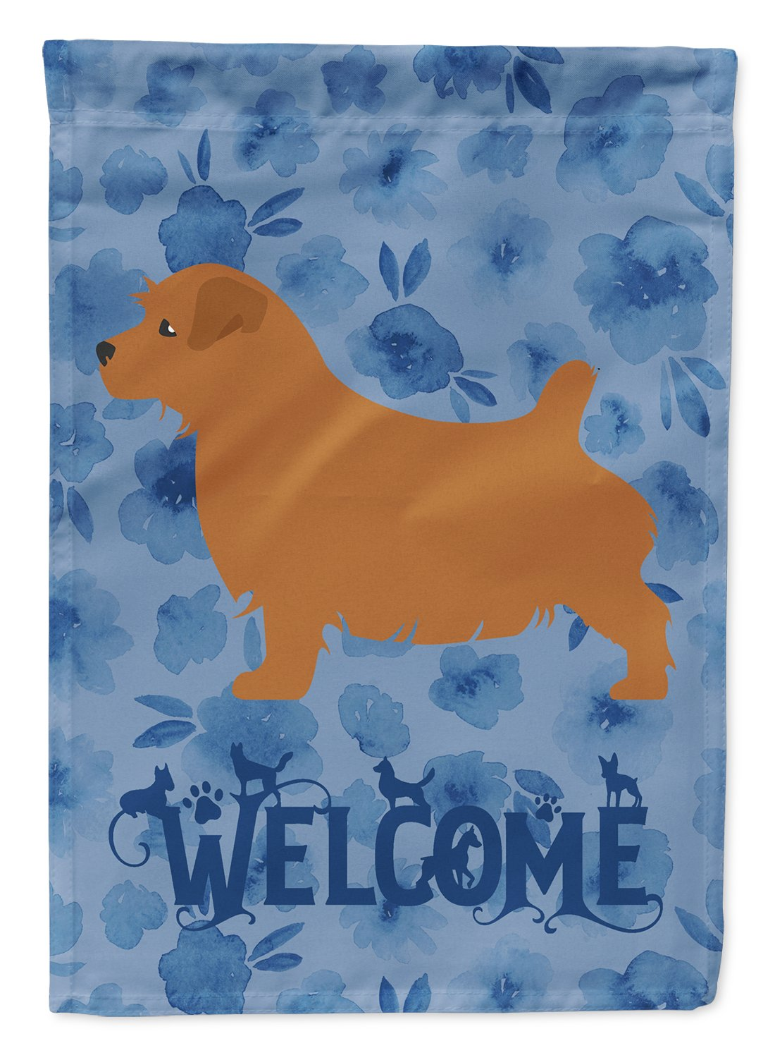 Norfolk Terrier Welcome Flag Garden Size CK6136GF by Caroline's Treasures