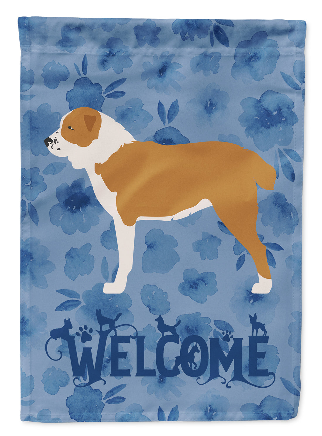 Central Asian Shepherd Dog Welcome Flag Canvas House Size CK6155CHF by Caroline's Treasures