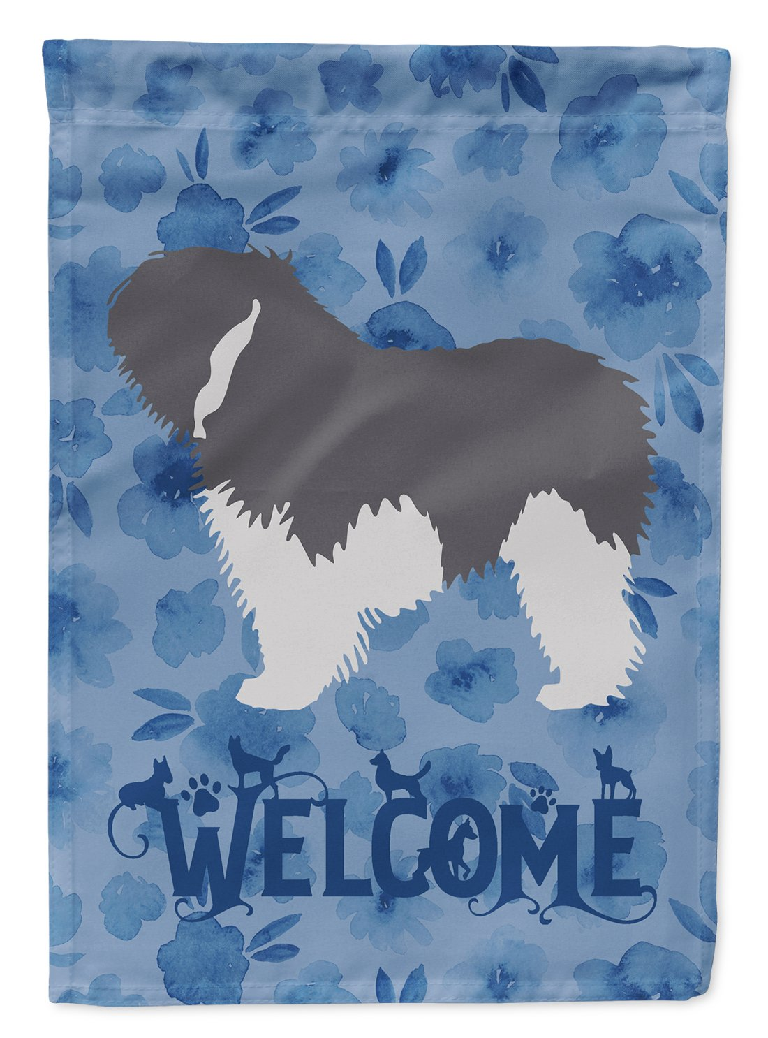 Polish Lowland Sheepdog Dog Welcome Flag Garden Size CK6159GF by Caroline's Treasures