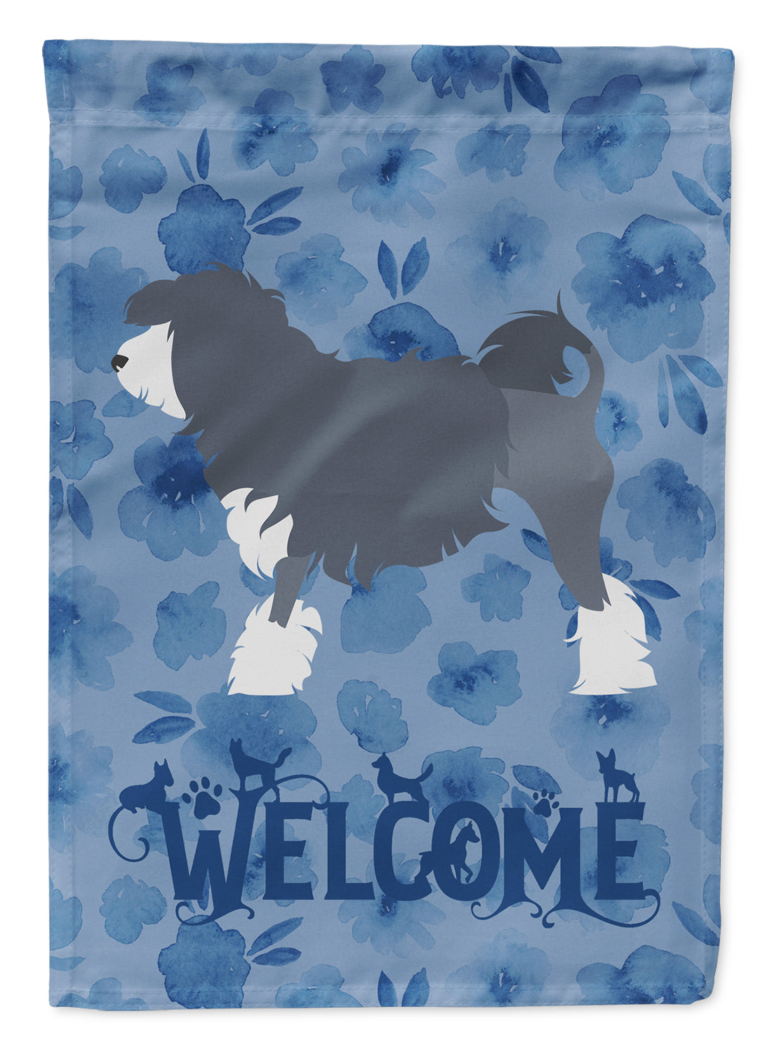 Lowchen Welcome Flag Canvas House Size CK6162CHF by Caroline's Treasures