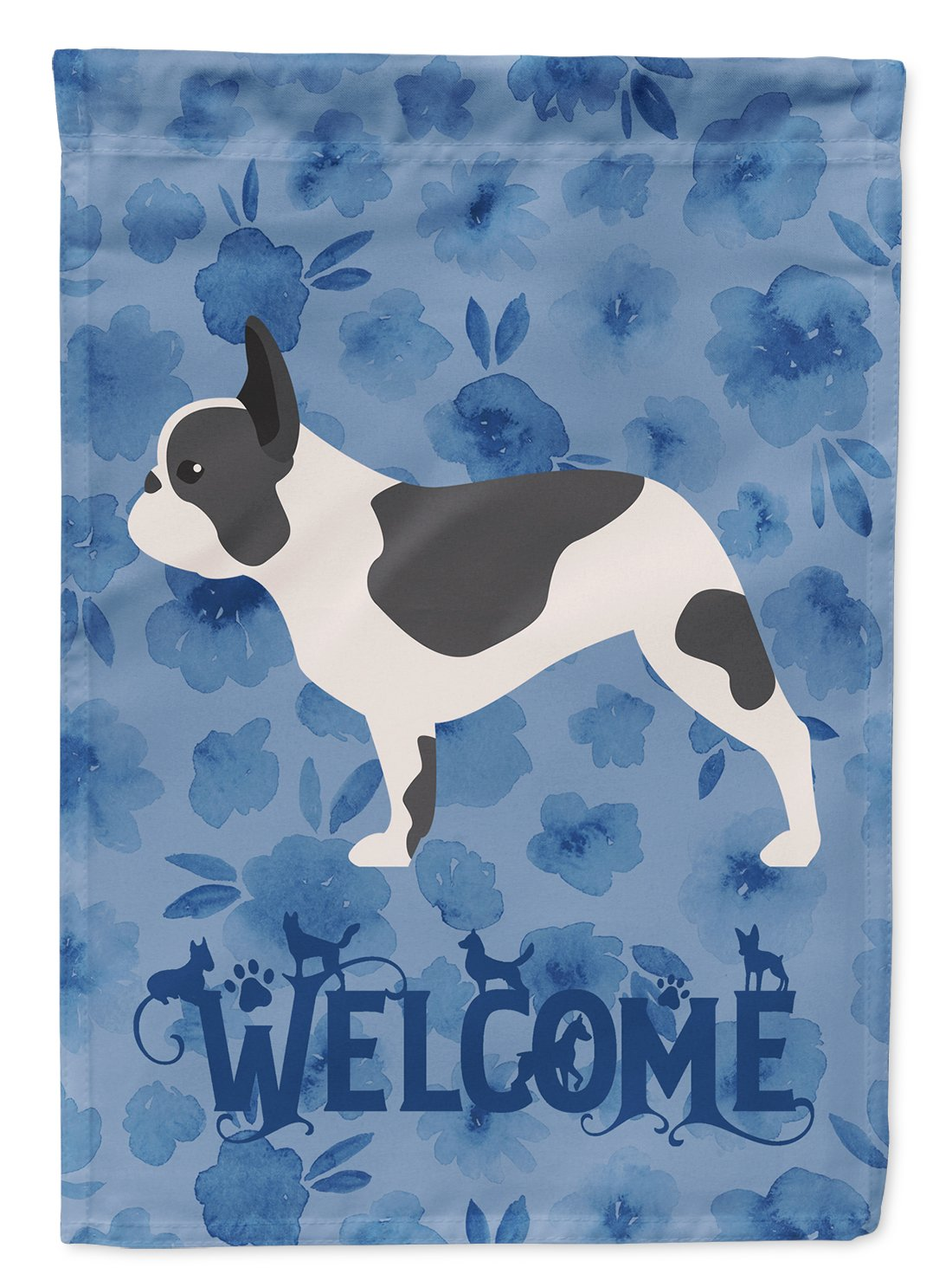 French Bulldog Welcome Flag Garden Size CK6168GF by Caroline's Treasures