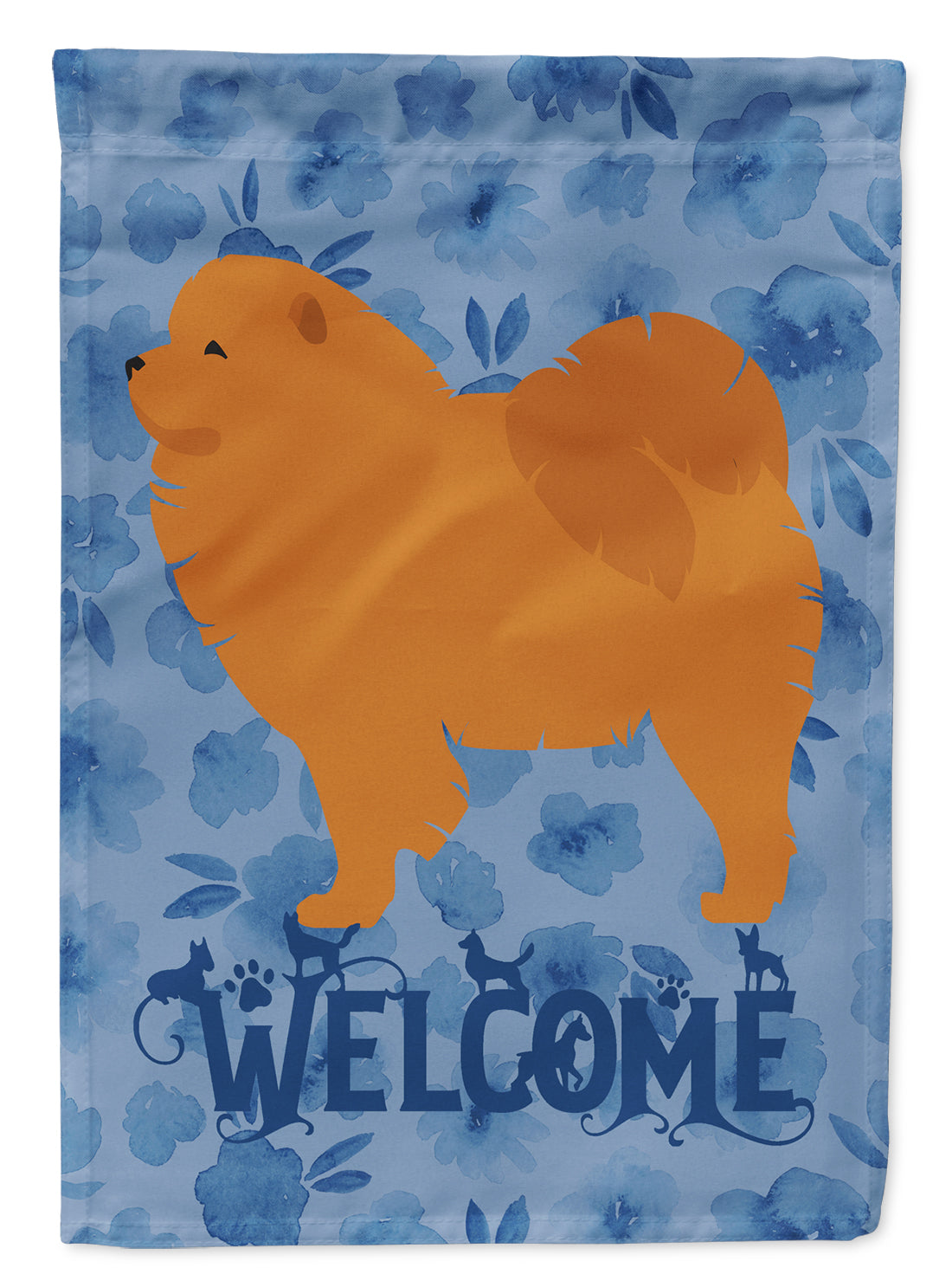 Chow Chow Welcome Flag Canvas House Size CK6178CHF by Caroline's Treasures