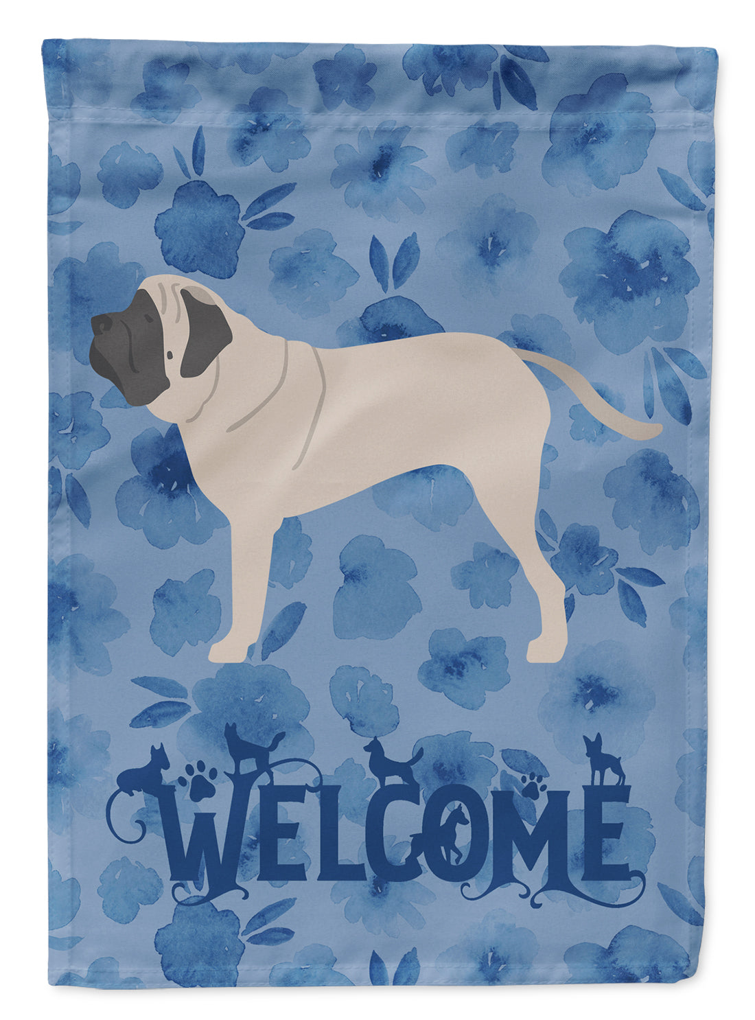 English Mastiff Welcome Flag Canvas House Size CK6183CHF by Caroline's Treasures