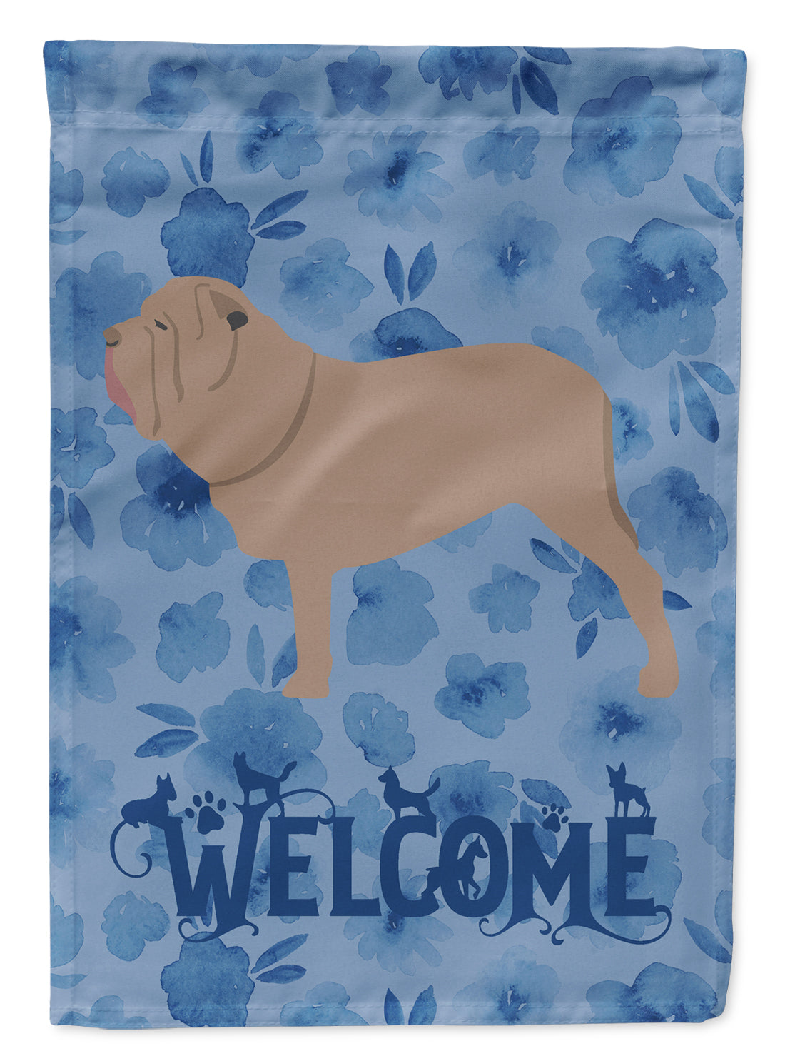 Neapolitan Mastiff Welcome Flag Canvas House Size CK6192CHF by Caroline's Treasures