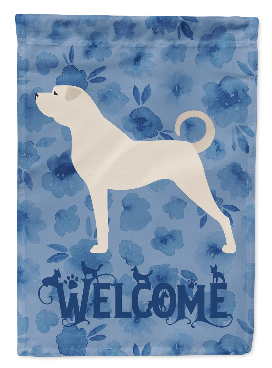 Anatolian Shepherd Welcome Flag Canvas House Size CK6204CHF by Caroline's Treasures