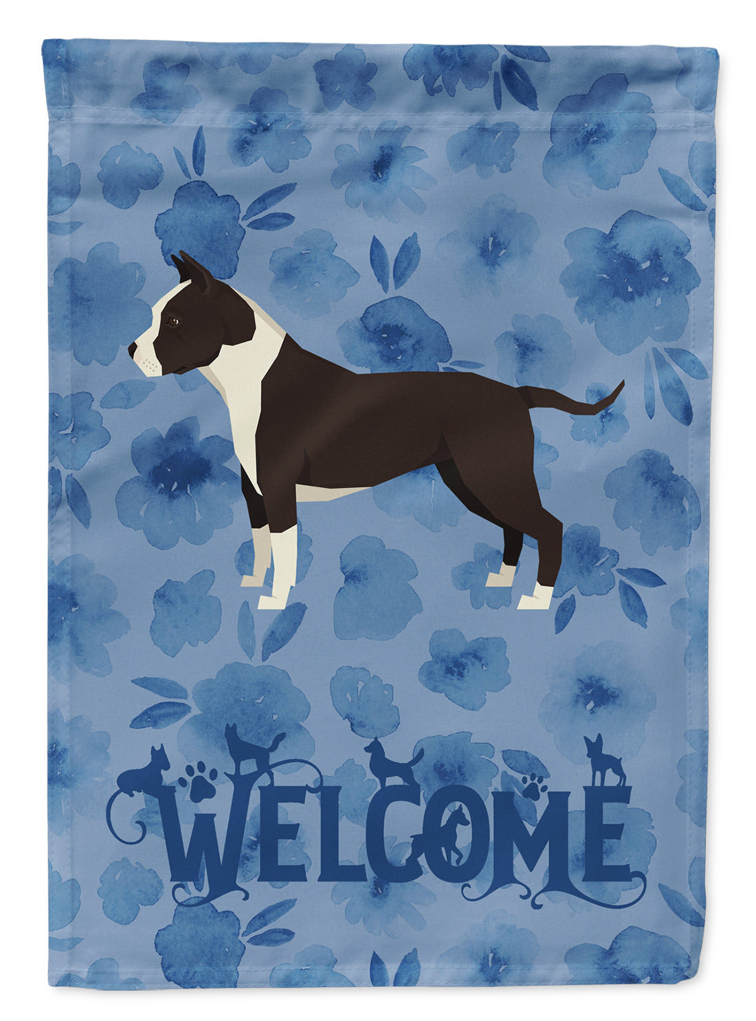 American Staffordshire Terrier Welcome Flag Garden Size CK6219GF by Caroline's Treasures