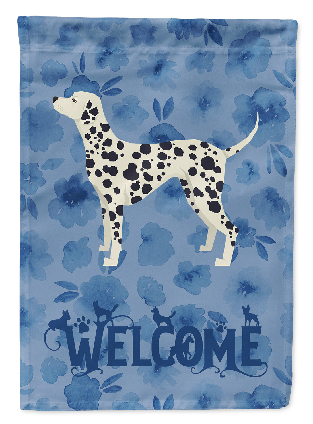 Dalmatian Welcome Flag Canvas House Size CK6238CHF by Caroline's Treasures