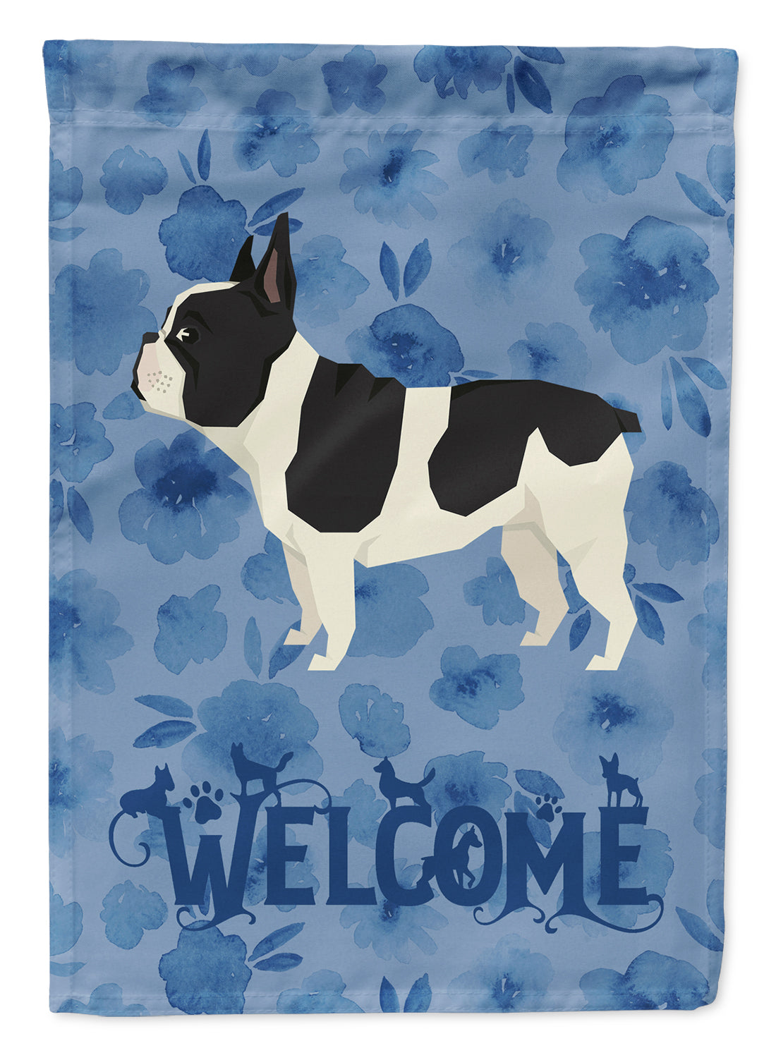 French Bulldog Welcome Flag Garden Size CK6243GF by Caroline's Treasures