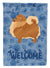 Pomeranian Welcome Flag Canvas House Size CK6259CHF by Caroline's Treasures