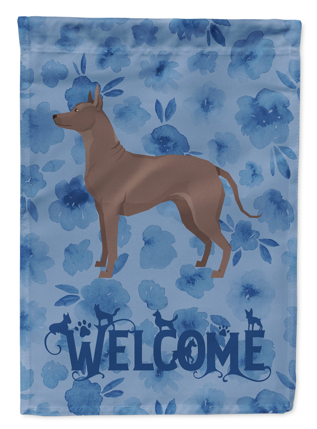 Mexican Hairless Dog Xolo Welcome Flag Canvas House Size CK6274CHF by Caroline's Treasures