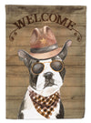 Boston Terrier Country Dog Flag Canvas House Size CK6291CHF by Caroline's Treasures