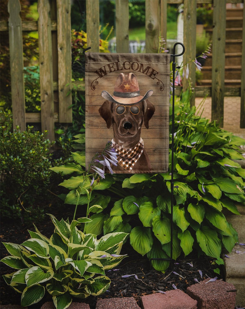 Buy this Chocolate Labrador Retriever Country Dog Flag Garden Size CK6297GF
