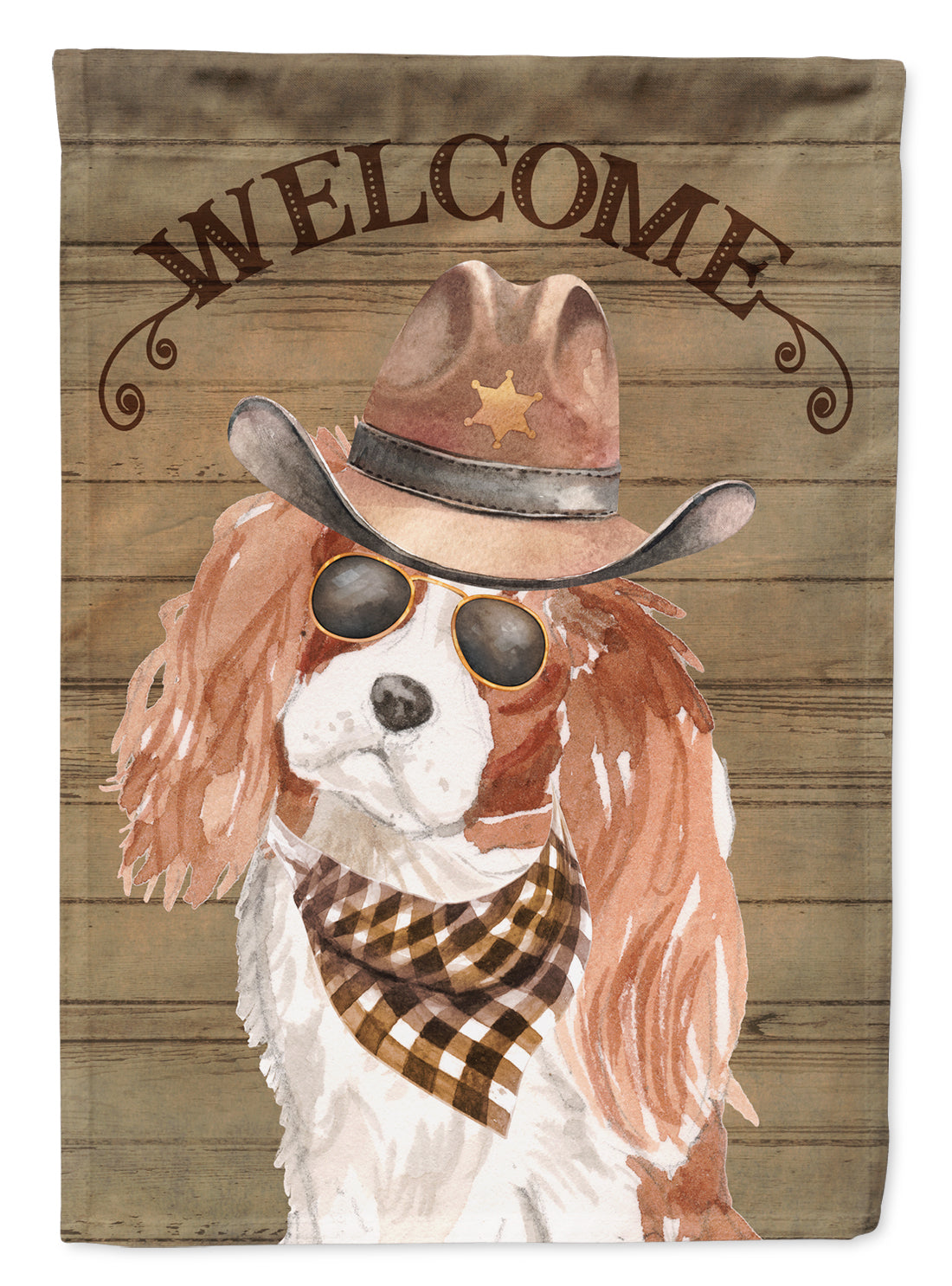 Cavalier King Charles Spaniel Country Dog Flag Canvas House Size CK6302CHF by Caroline's Treasures