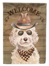 Champagne Cockapoo Country Dog Flag Canvas House Size CK6304CHF by Caroline's Treasures