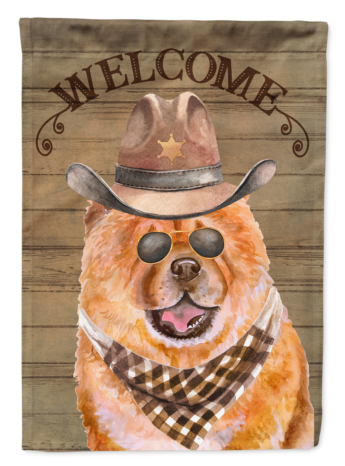 Chow Chow Country Dog Flag Canvas House Size CK6307CHF by Caroline's Treasures