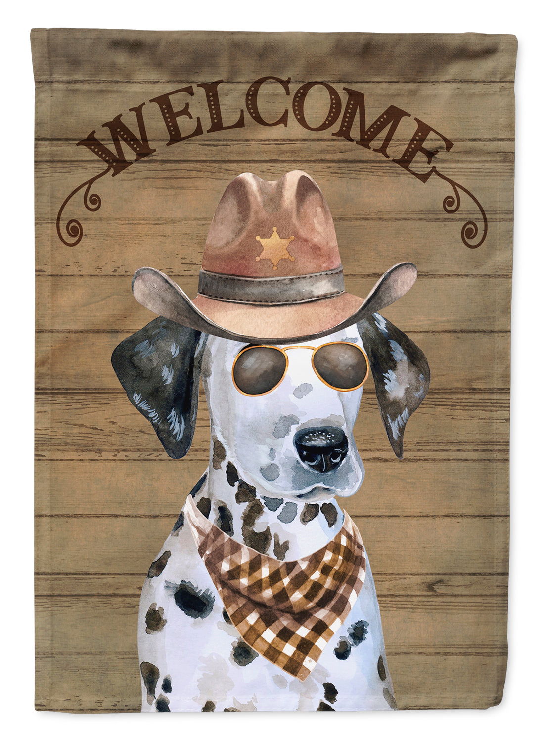 Dalmatian Puppy Country Dog Flag Canvas House Size CK6312CHF by Caroline's Treasures