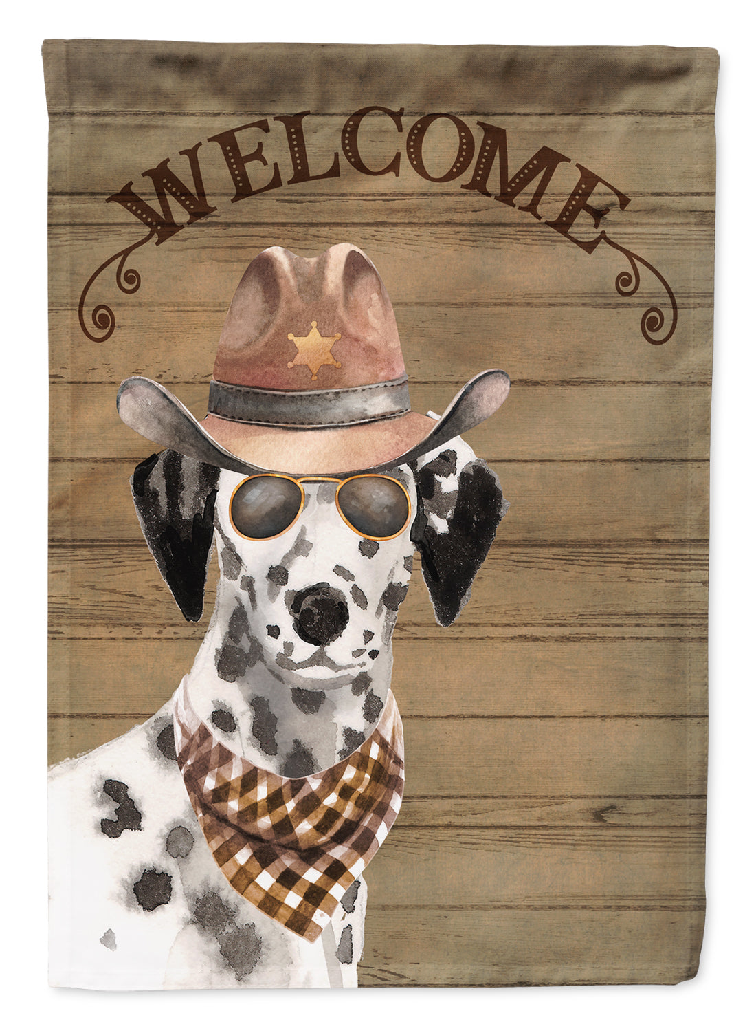 Dalmatian Country Dog Flag Canvas House Size CK6313CHF by Caroline's Treasures