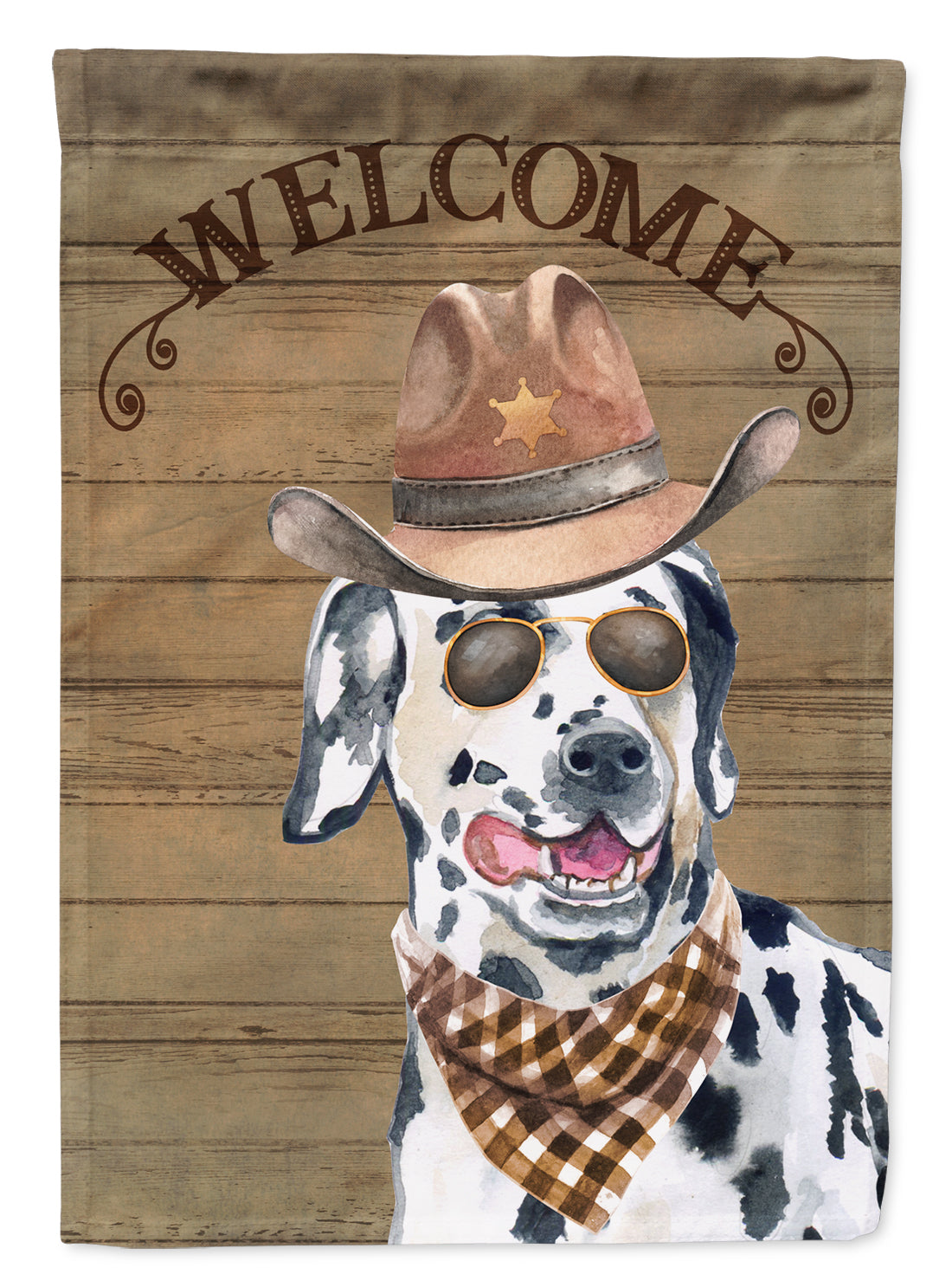 Dalmatian #2 Country Dog Flag Canvas House Size CK6314CHF by Caroline's Treasures