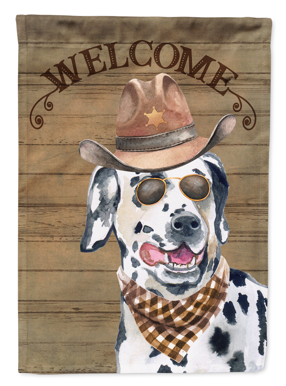 Dalmatian #3 Country Dog Flag Canvas House Size CK6315CHF by Caroline's Treasures