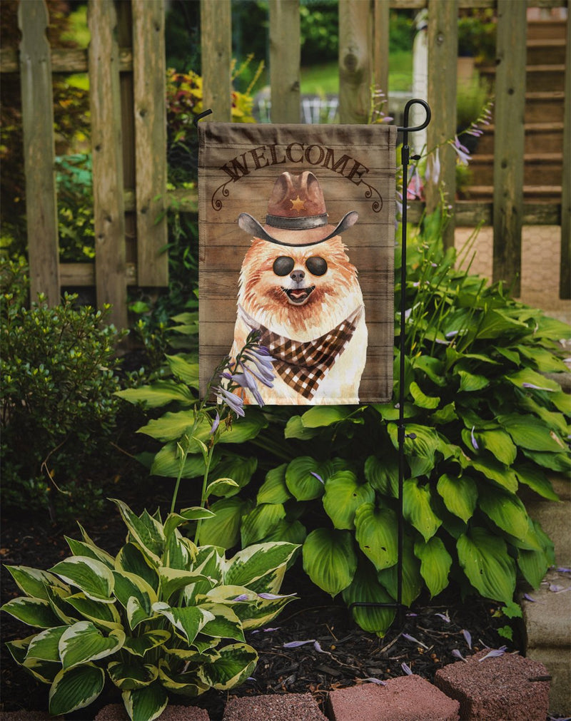 Buy this Pomeranian Country Dog Flag Garden Size CK6324GF