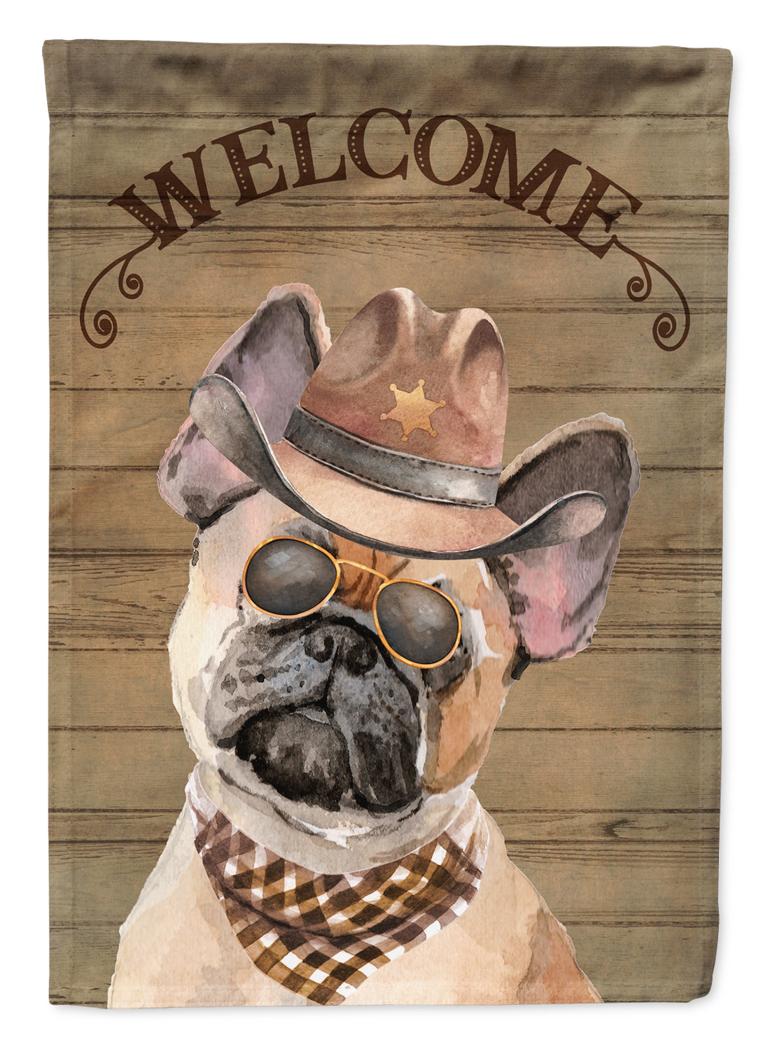 Buy this Fawn French Bulldog Country Dog Flag Canvas House Size CK6330CHF