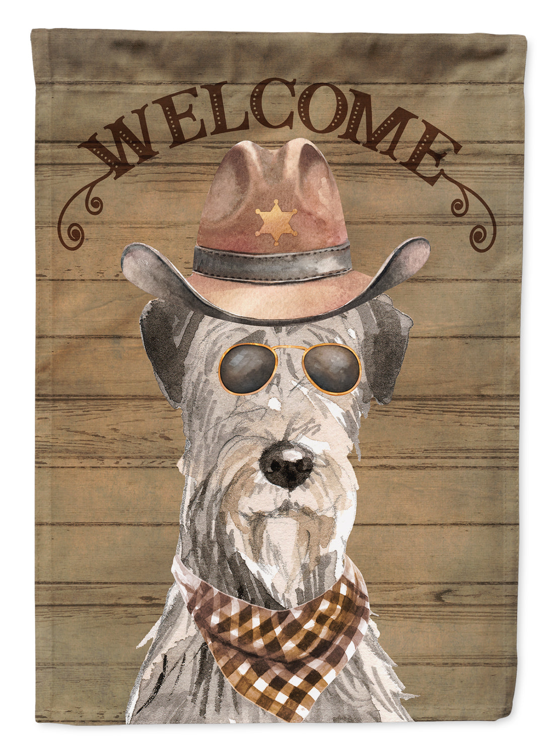 Buy this Irish Wolfhound Country Dog Flag Canvas House Size CK6335CHF