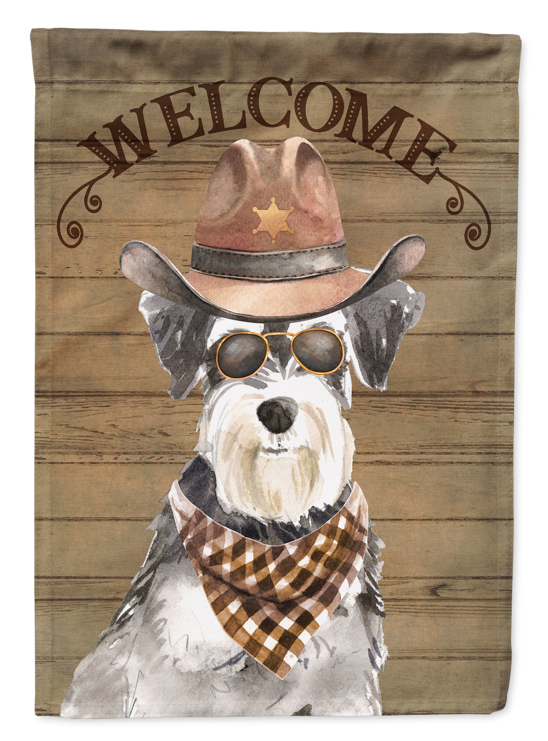 Schnauzer Country Dog Flag Canvas House Size CK6343CHF by Caroline's Treasures
