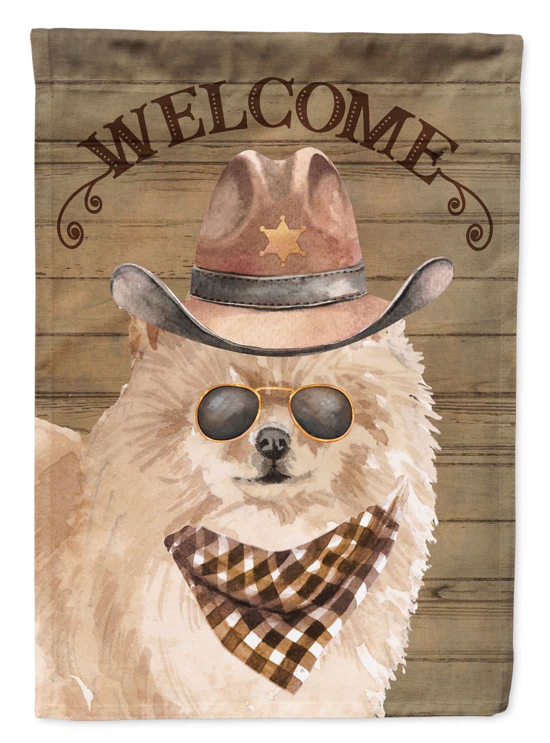 Buy this Pomeranian #2 Country Dog Flag Canvas House Size CK6349CHF