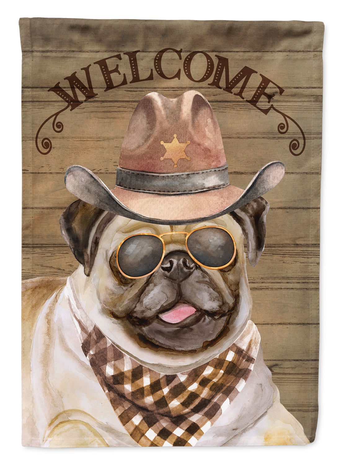 Buy this Pug Country Dog Flag Canvas House Size CK6351CHF