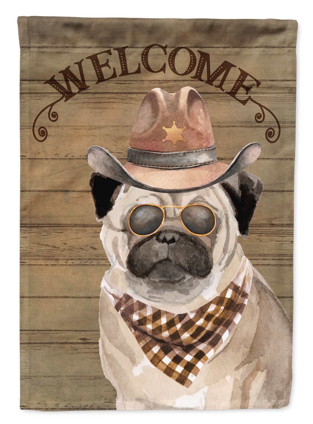 Buy this Pug #2 Country Dog Flag Canvas House Size CK6352CHF