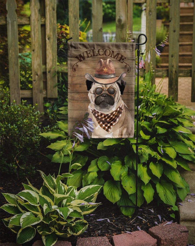 Buy this Pug #2 Country Dog Flag Garden Size CK6352GF