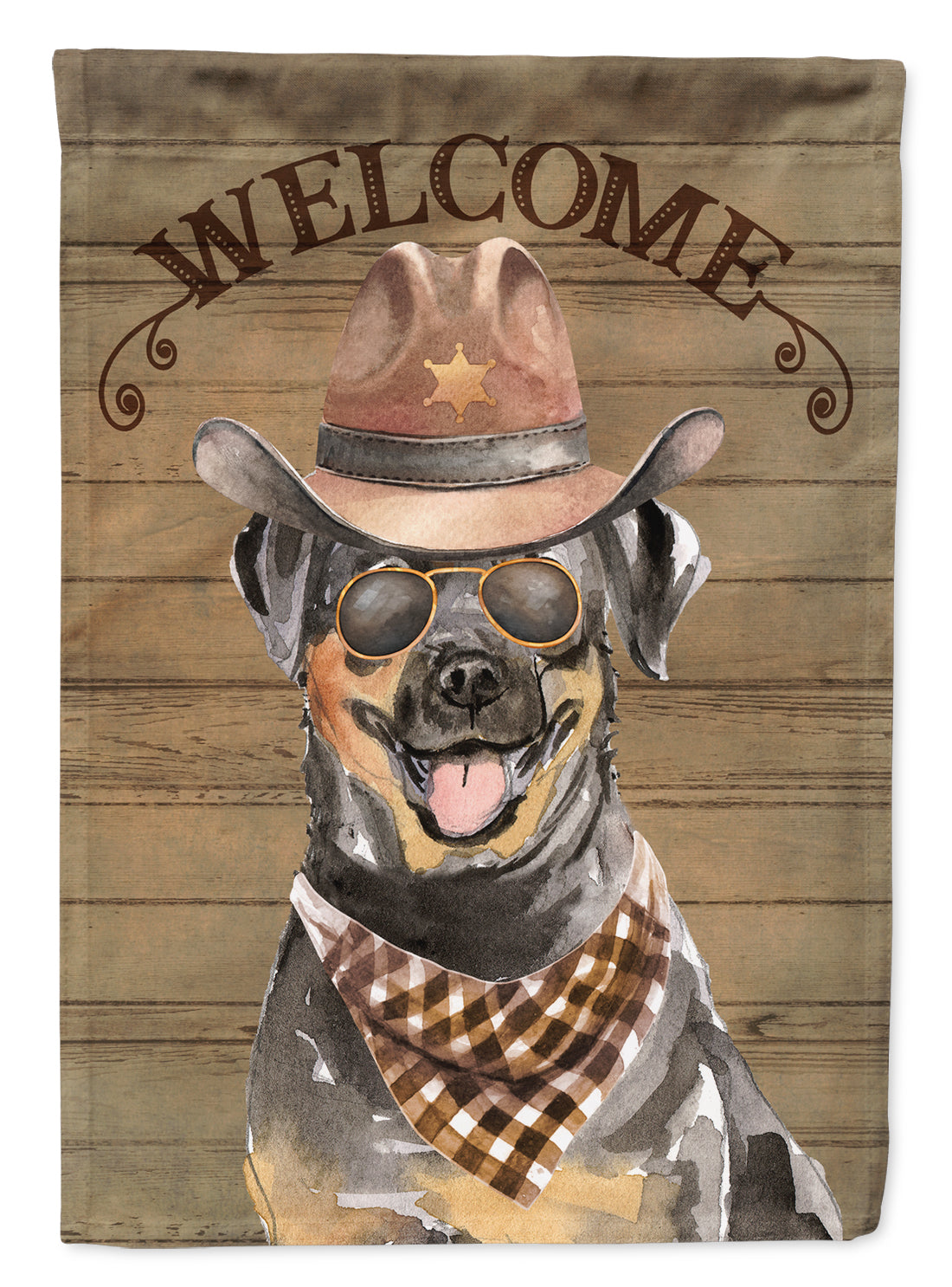 Rottweiler Country Dog Flag Canvas House Size CK6353CHF by Caroline's Treasures